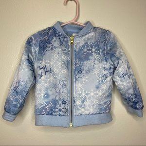 Disney FROZEN Snowflake Lightweight Zip 2T Jacket
